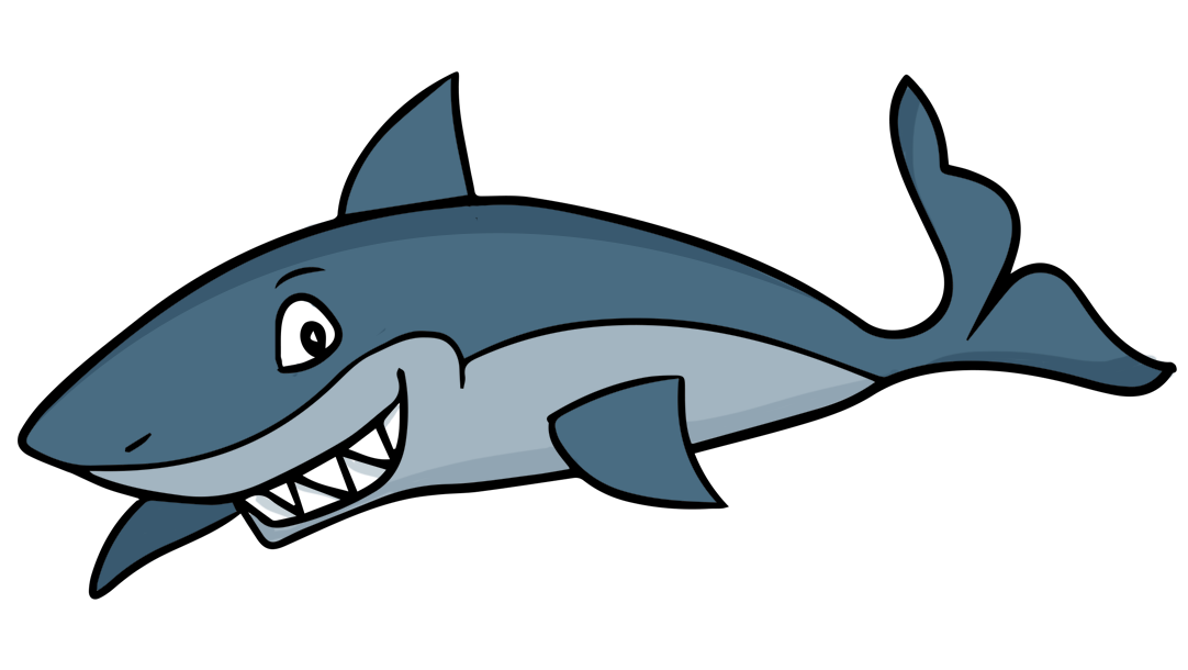 Cute baby shark clipart.