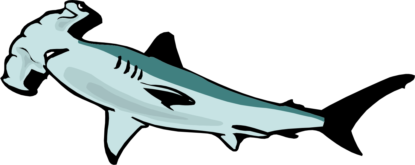 Hammerhead shark clip art.