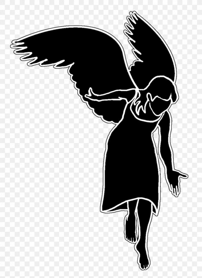 Silhouette Cherub Angel, PNG, 913x1255px, Silhouette, Angel.