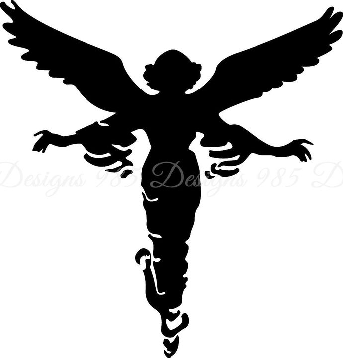 Angel SVG for Cricut and Silhouette Machines plus .PNG and EPS Iron On  Transfer Laser Cutting and Engraving.