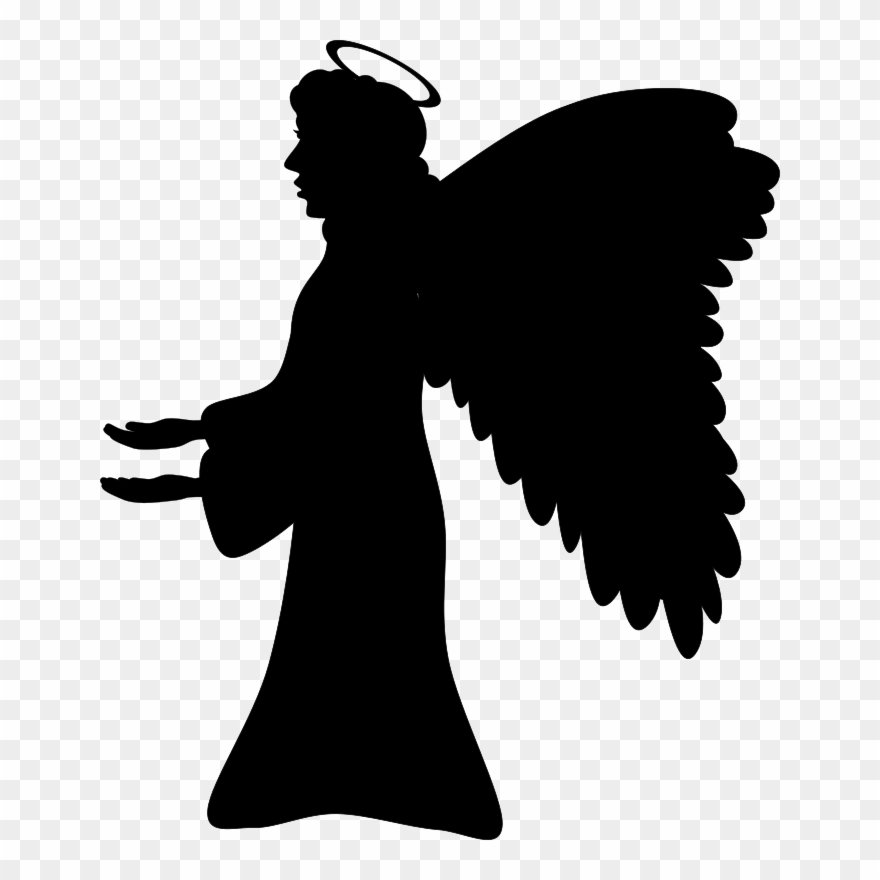 Christian Clip Art Guardian Angel Silhouette Drawing.