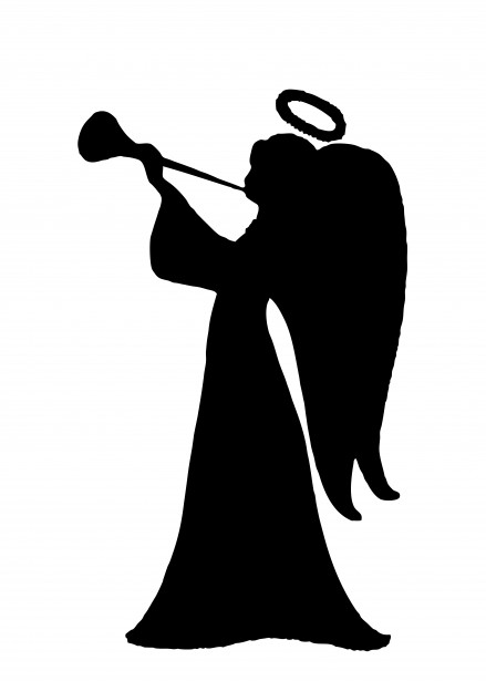Angel Silhouette Clipart Free Stock Photo.