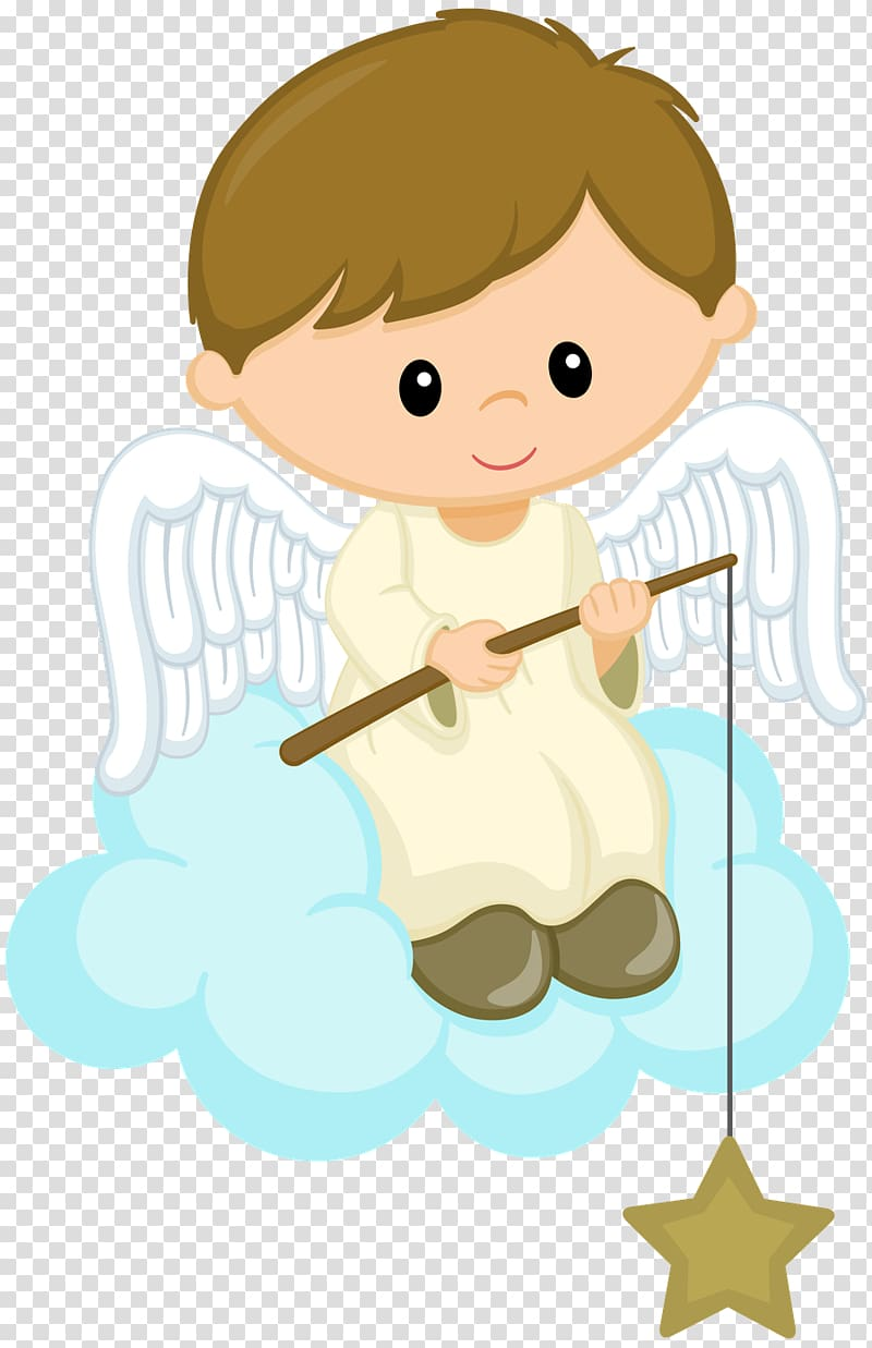 Male angel sitting on cloud art, Baptism , others.
