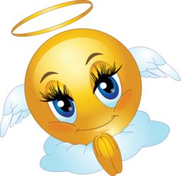 Angel Female Smiley Emoticon Clipart.