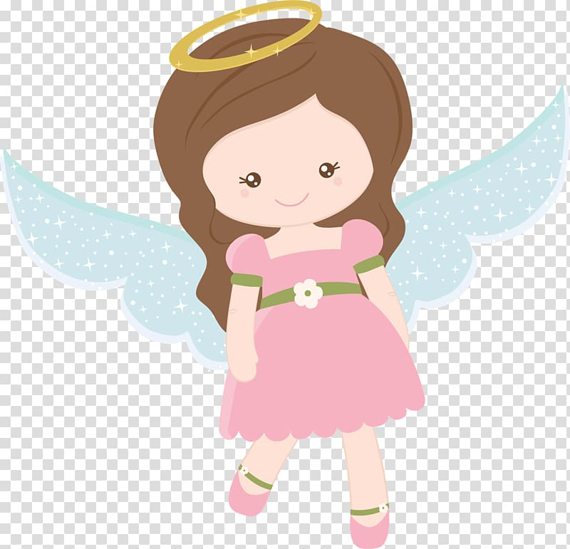 Female angel illustration, Angel , baptism transparent.