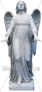 Stock Photo Statue Of Angel Figure Clipart.
