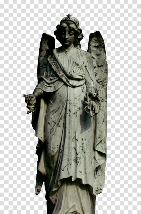 AESTHETIC GRUNGE, angel statue transparent background PNG.