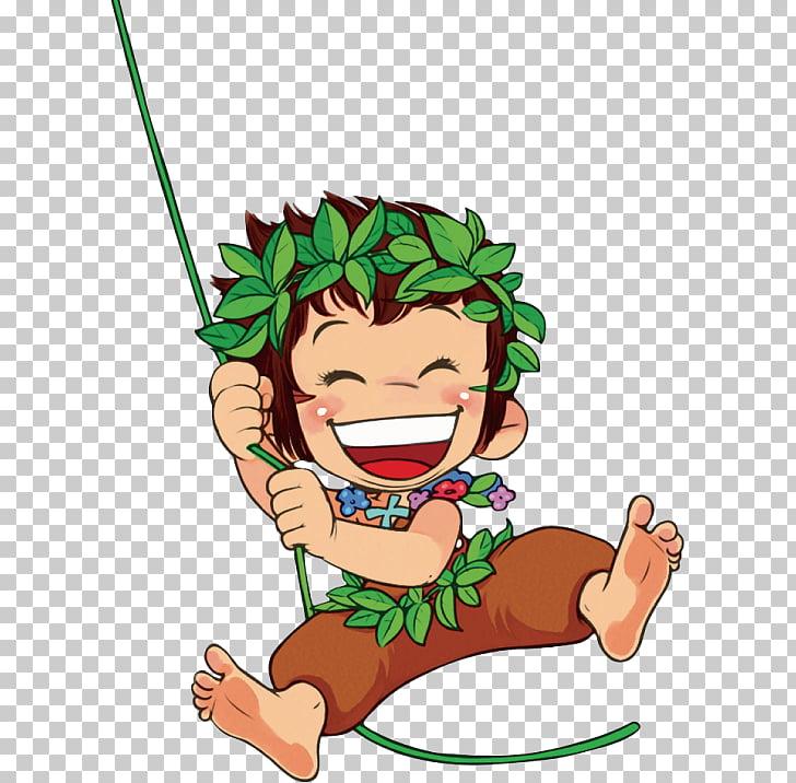 Stone Forest Monkey, Swinging monkey PNG clipart.