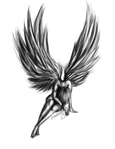 Angel Tattoos fallen angel.