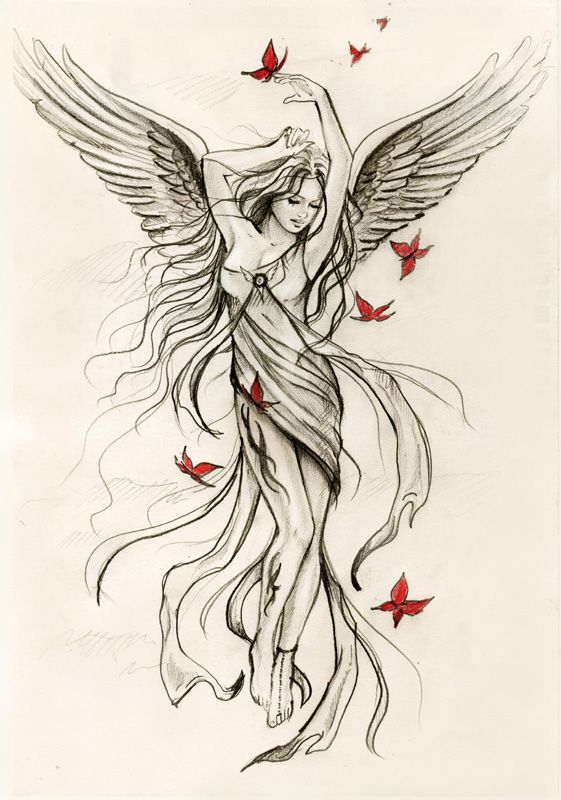 45+ Angel Tattoos Designs And Samples.
