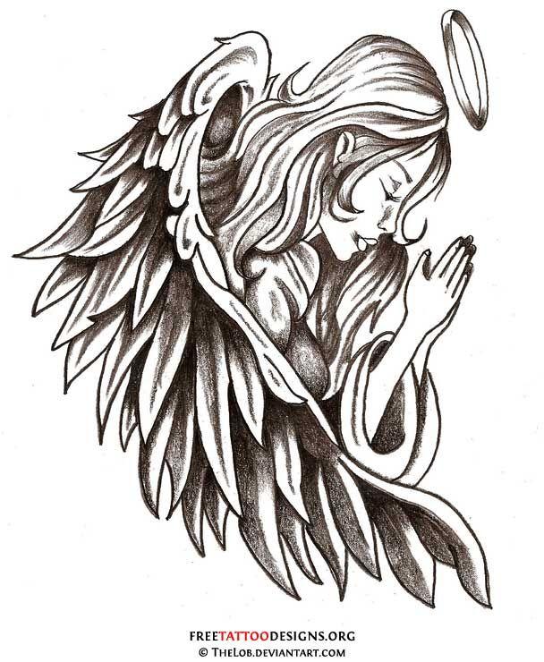 angel tattoo.
