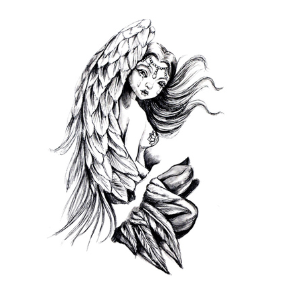 Angel Tattoos Png & Free Angel Tattoos.png Transparent Images #1024.