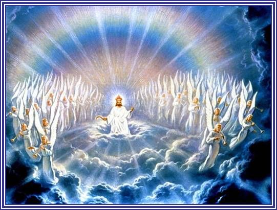 God In Heaven Clipart.