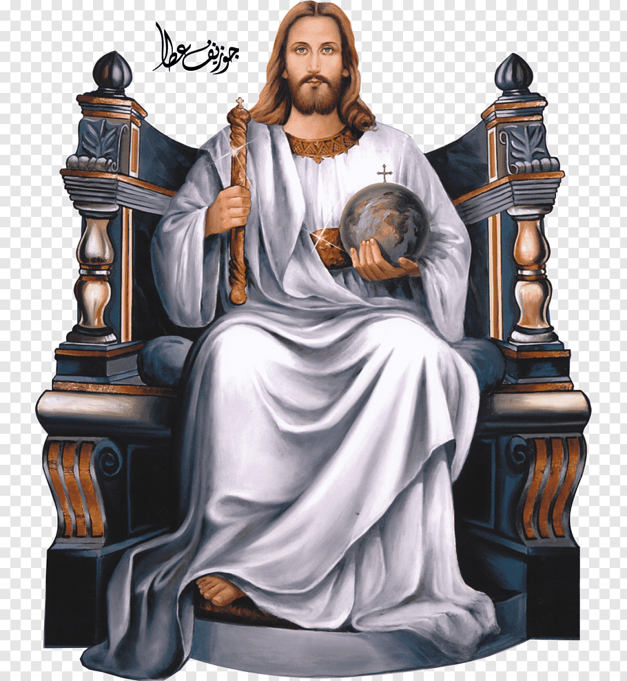 Christ the King Bible Throne God Sacred Heart, white throne.
