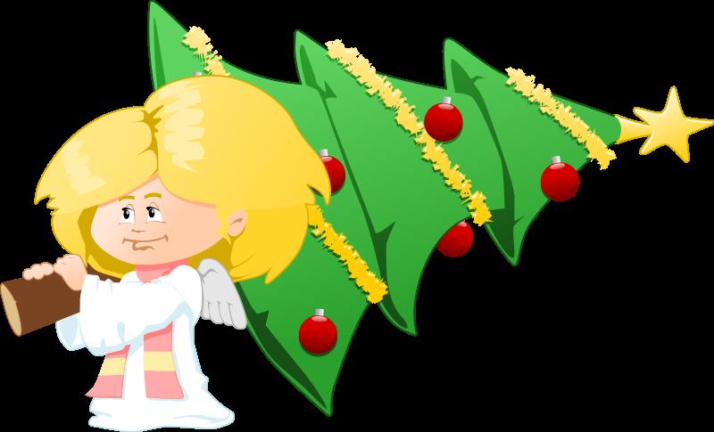 Christmas Angel Tree Clipart.