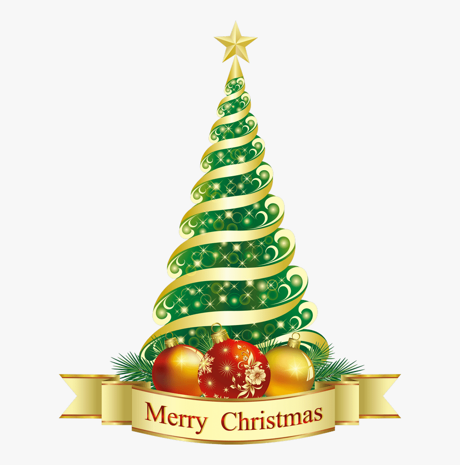 Merry Christmas With Christmas Tree , Free Transparent.