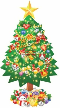 Free christmas tree clip art vector images free vector.