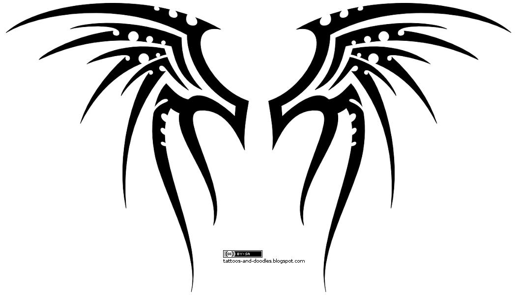 New Tattoo Butterfly Angel Tribal Wings Tattoo Designs.