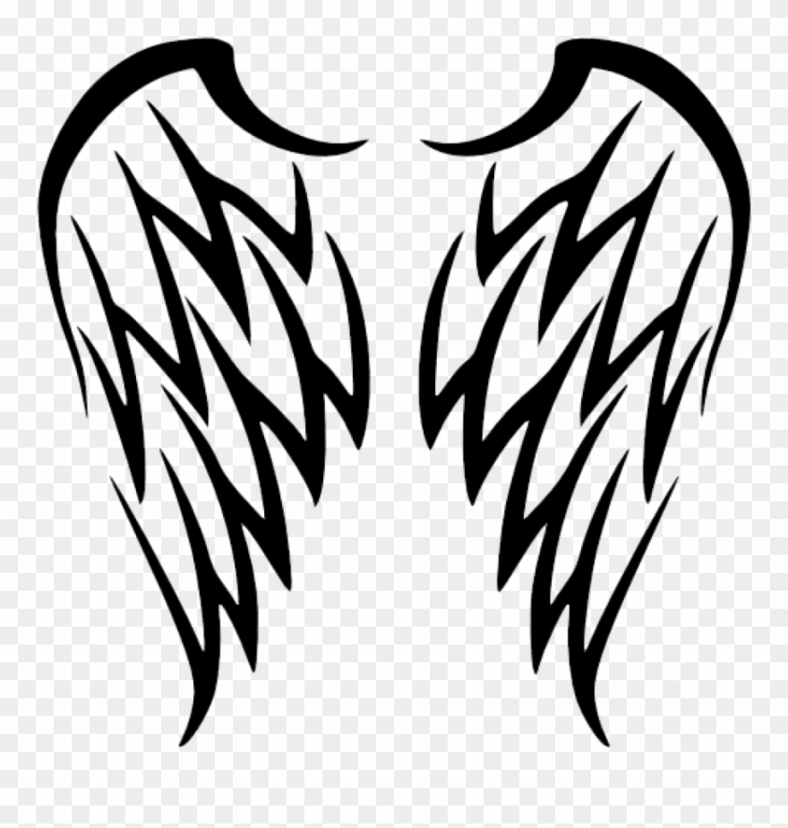Free Png Download Tribal Angel Wings Tattoo Png Images.