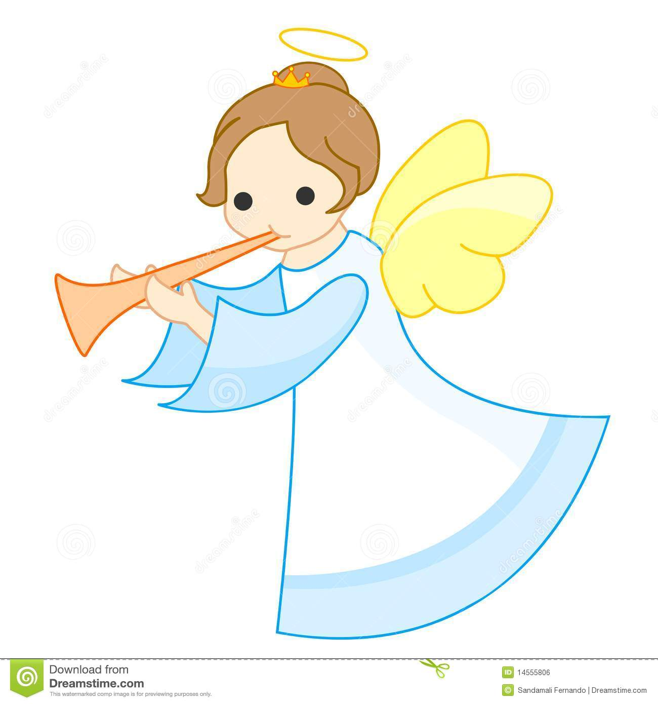 angel clipart trumpet cute vector cartoon baptism illustration background clipground cliparts angelic preview