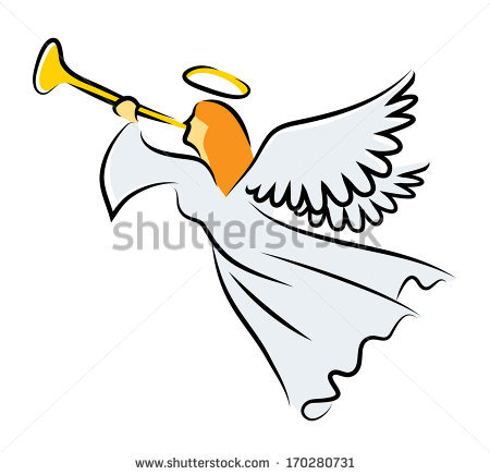 Angels with trumpets clip art.
