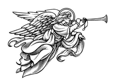 Angel With Trumpet Clipart.