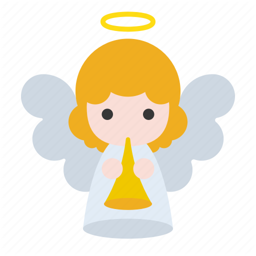 \'Cute angel set for xmas festival\' by icon stall.