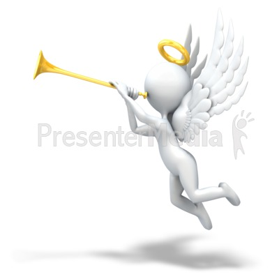 Angel Playing Trumpet.