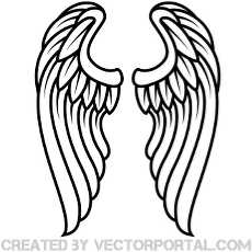 angel wing clipart free vectors.