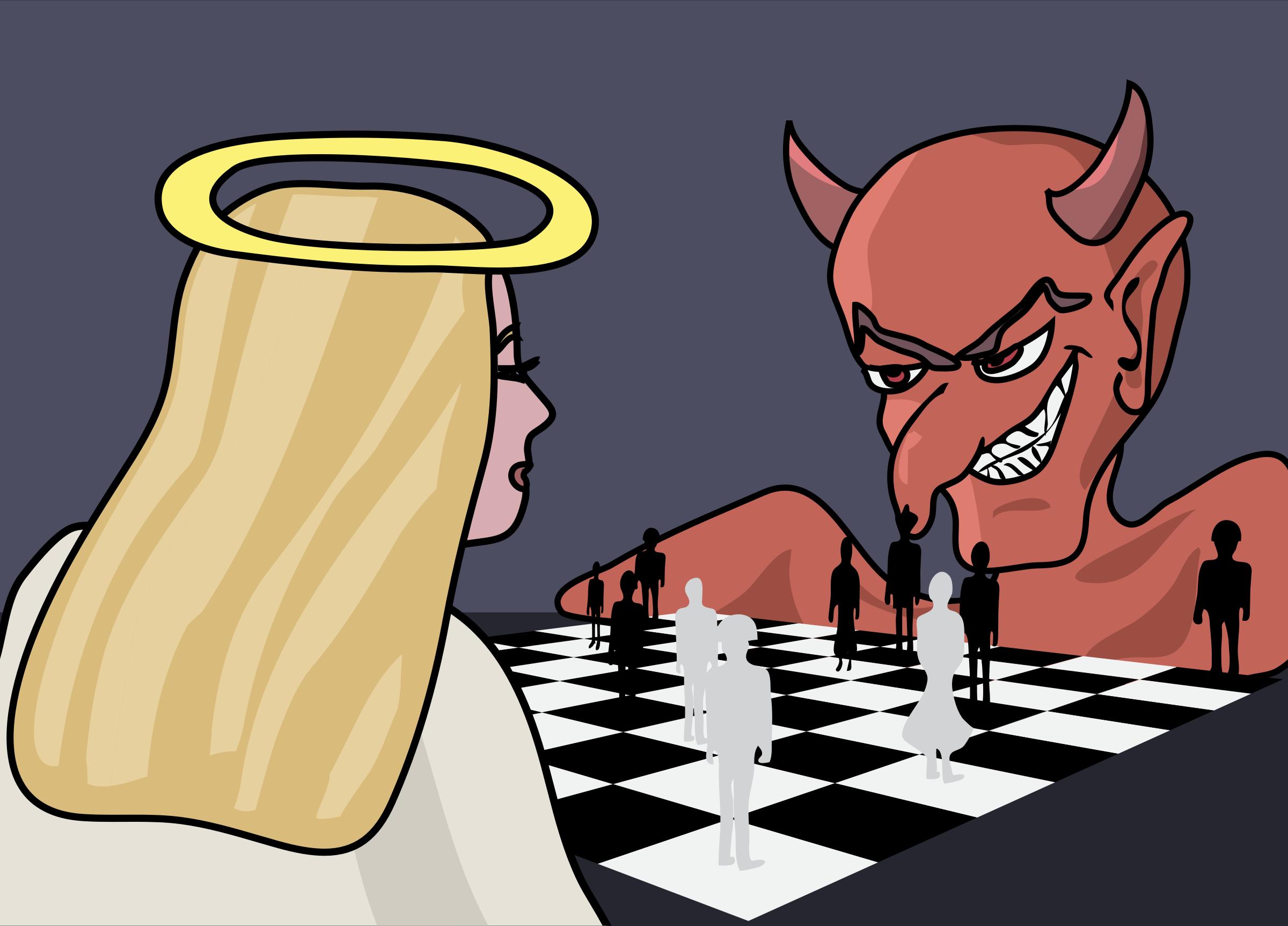 Angels vs demons clipart.