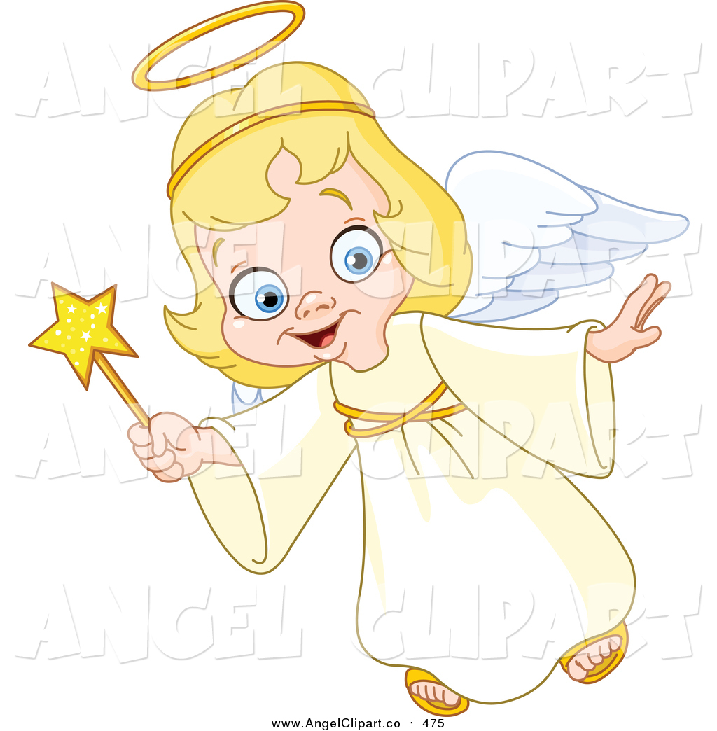 805 Christmas Angel free clipart.