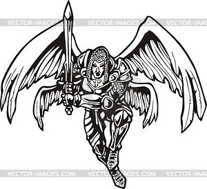 Angel warrior with a sword.