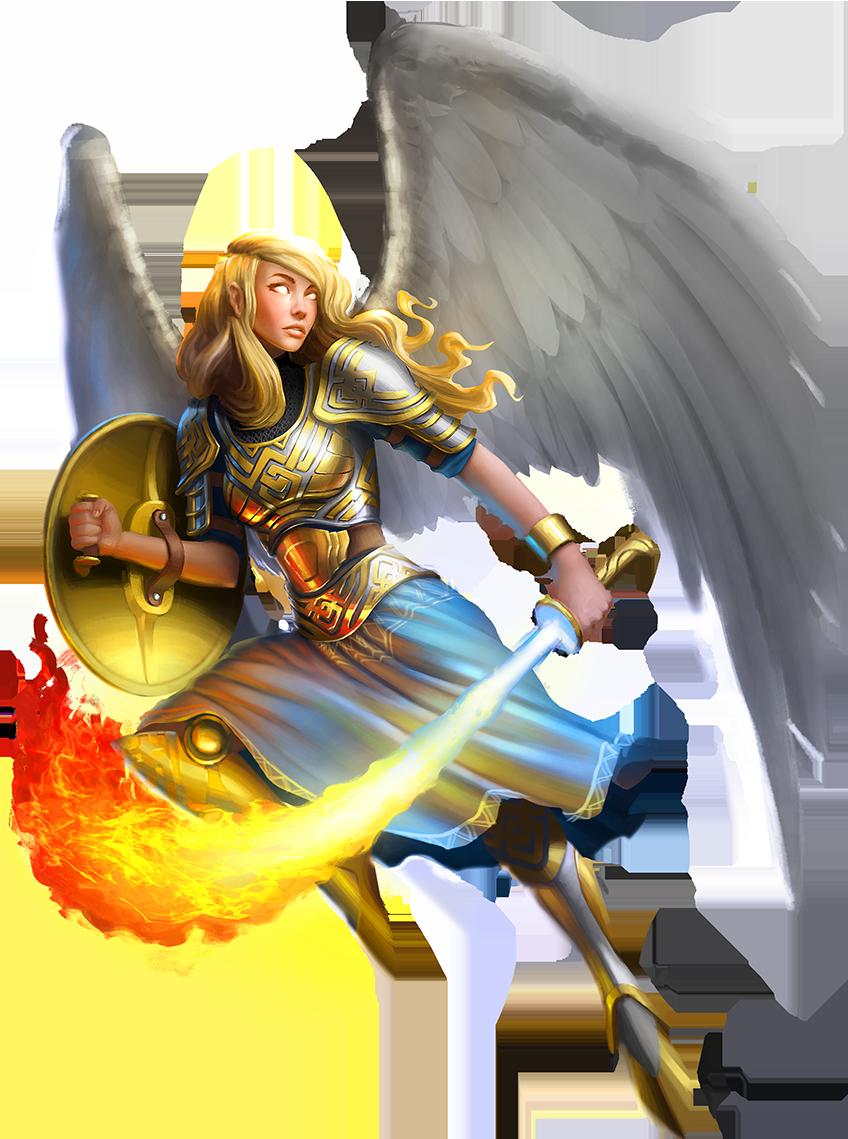 Angel Warrior Clipart Animated.