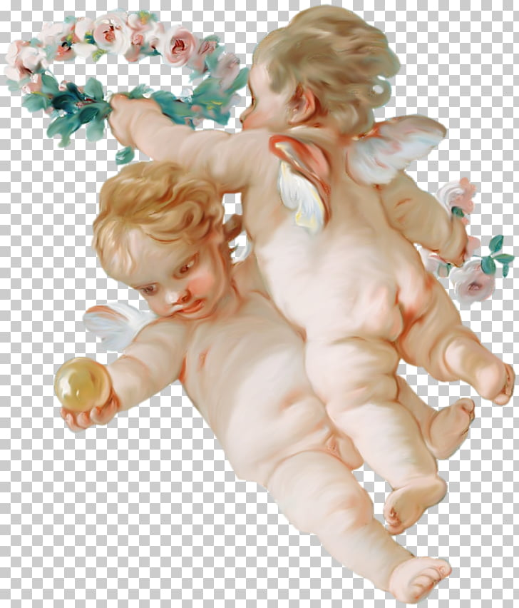Venus on the Waves Angel , Garland angel child PNG clipart.