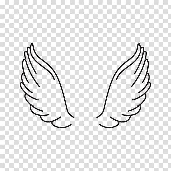 Black wings illustration, Computer Icons , angel wings.