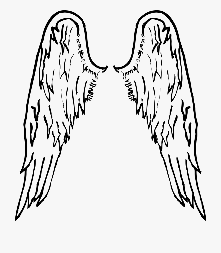 Closed Angel Wings Clip Art.