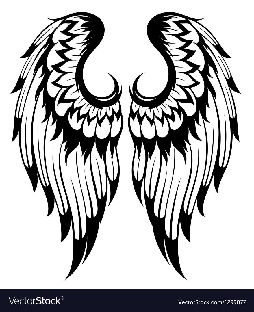 Angel wings.