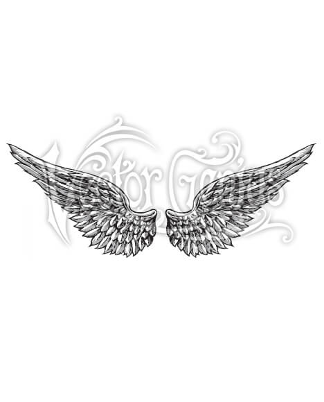 Epic Angel Wings Tattoo Clip Art.