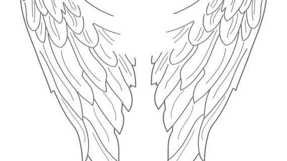 322 Angel Wing free clipart.
