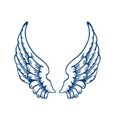 Angel wing patterns clipart.