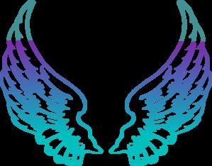 Purple Guardian Angel Wings clip art.