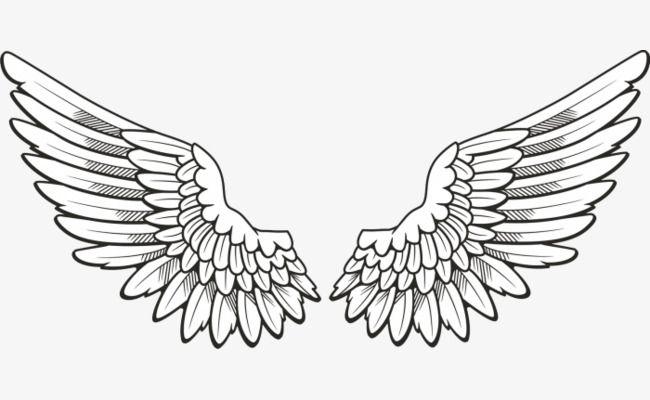 Hand Painted Angel Wings.