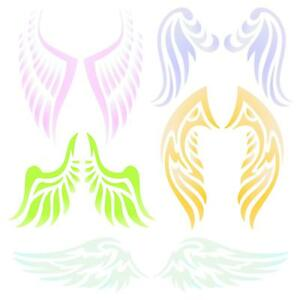 Details about Angel Wing Stencil Reusable Christian Guardian Angel Wings  Wall Template Use.
