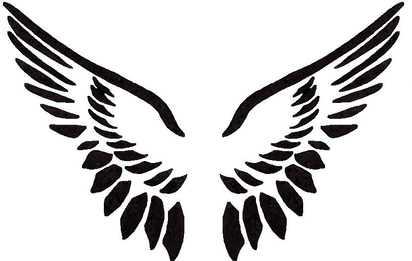 Free Angel Wing Stencil, Download Free Clip Art, Free Clip.