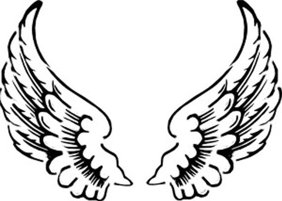Angel Wings Stencil 5x7 by ArtisticStencils on Etsy.