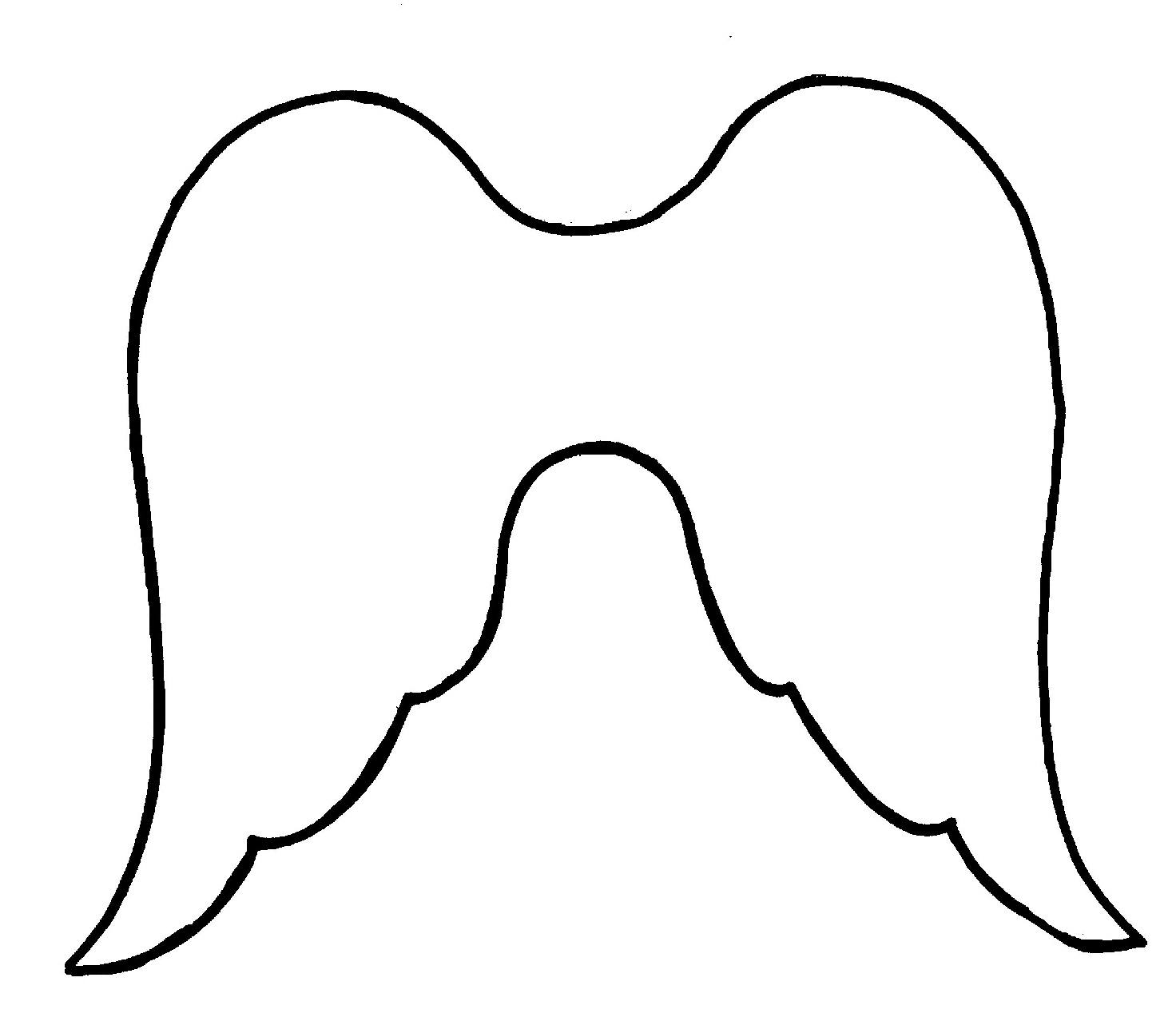 Angel Wing Stencil.