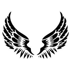 Angel Wings Stencil.