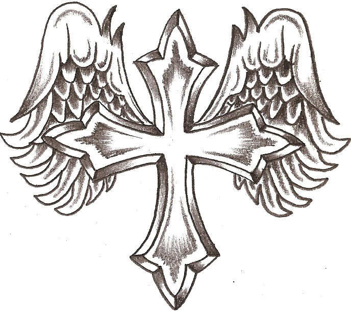 Free Drawings Of Crosses With Wings, Download Free Clip Art.