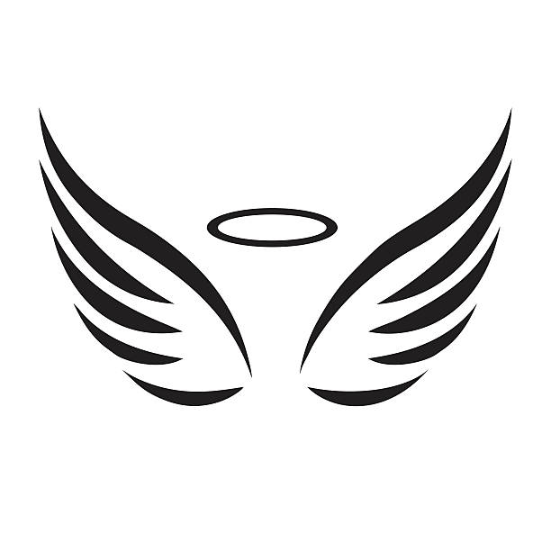 Cartoon Angel Wings Clipart.