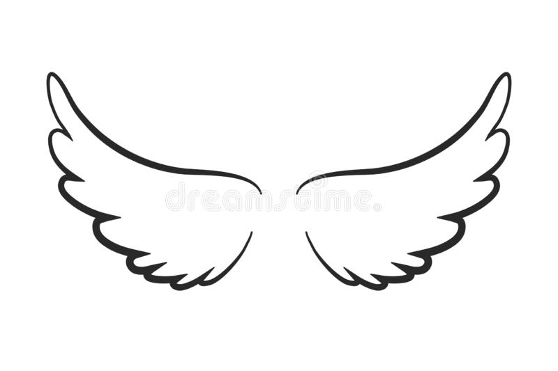 Angel Wings Stock Illustrations.